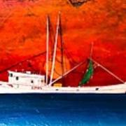 Clyde Phillips At Sea  Art Print