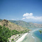 Coast And Beach View Near Dili In East Timor Leste Art Print