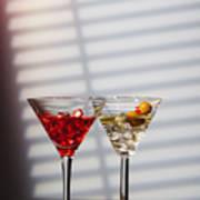 Cocktails At The Bar Art Print