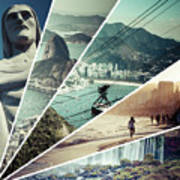 Collage Of Rio De Janeiro  Art Print