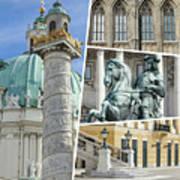 Collage Of Vienna Art Print