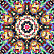 Colorful Concentric Abstract Art Print