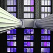2 Column Stain Purple Art Print