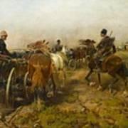 Cossacks Returning Home On Horseback Art Print