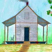 Cracker Cabin Drawing Art Print