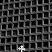 Cross And Building Art Print