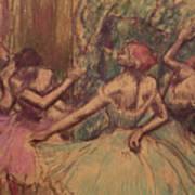 Dancers In The Wings Art Print