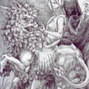 Death Devil And Maiden Art Print