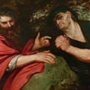 Democritus And Heraclitus Art Print