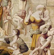 Detail Of Saint Cecilia Distributing Alms Art Print