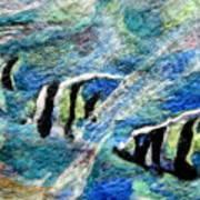 Detail Of Water Art Print by Kimberly Simon