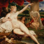 Diana At The Bath Art Print