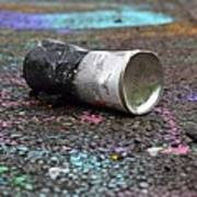 Discarded Spray Paint Can Art Print