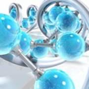 Dna Molecules, Artwork Art Print