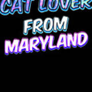 Dog Lover From Maryland Art Print