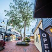 Downtown Of Newport Rhode Island At Dusk Hours Art Print