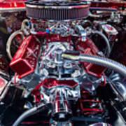Engine Compartment Of Chromed Camaro Art Print