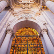 Entrance Of The Syracuse Baroque Cathedral In Sicily - Italy Art Print