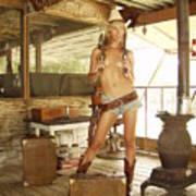Everglades Cowgirl Art Print