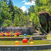 Chihuly Exhibition In The Atlanta Botanical Garden. #02 Art Print