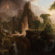 Expulsion From The Garden Of Eden  Art Print