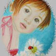 Felisa Little Angel Of Happiness And Luck Art Print by The Art With A Heart By Charlotte Phillips