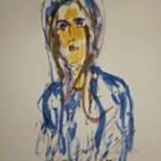 Female Face Study  C Art Print