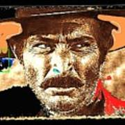 Film Homage Lee Van Cleef Spaghetti Westerns Publicity Photo Collage 1966-2008 Art Print