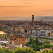 Florence Sunset Art Print