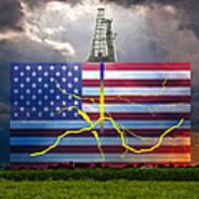Fracking In The U.s Art Print