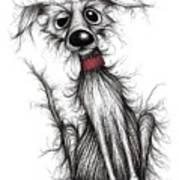 Fuzzy Dog Art Print