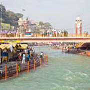 Ganga Ganges River At Haridwar Uttranchal India Pure Sacred Spiritual  Journey For Every Born Indian Poster