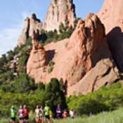 Garden Of The Gods Ten Mile Run In Colorado Springs Art Print