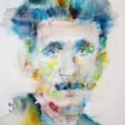George Orwell - Watercolor Portrait Art Print