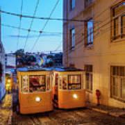 Gloria Funicular, Lisbon, Portugal Art Print