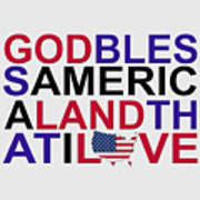 God Bless America Art Print