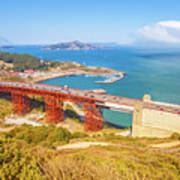 Golden Gate Bridge Vista Point Art Print
