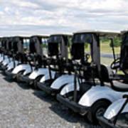 Golfing Golf Carts Art Print
