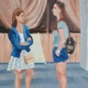 2 Gossip Girls Art Print