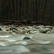 Granite And Water, Lynn Creek Art Print