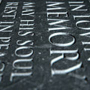 Gravestone In Loving Memory Art Print