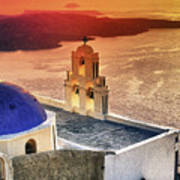 Greek Island - Santorini Art Print