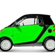 Green Mini Car Art Print