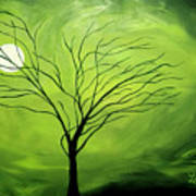 Green Night I Art Print