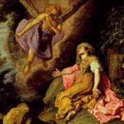 Hagar And The Angel Art Print