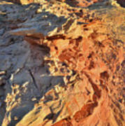 High Above Wash 3 In Valley Of Fire Art Print