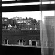 Hotel Window Butte Montana 1979 Art Print