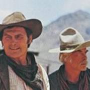 Jack Palance And Lee Marvin Monte Walsh Set Old Tucson Arizona 1969 Art Print
