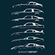 Japanese Sports Car Silhouettehistory Art Print
