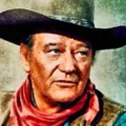 John Wayne, Hollywood Legend By John Springfield Art Print